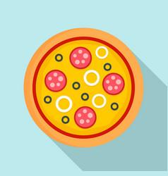 pizza mozzarella icon flat style vector image