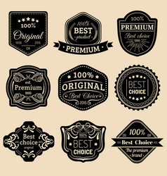 premium logos set best choice emblems quality vector image