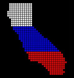 russia colors dot california map vector image