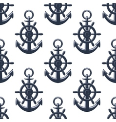 Sea anchors seamless pattern vector
