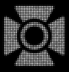 Searchlight halftone icon vector