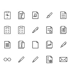 Set of linear icons of various kinds of vector