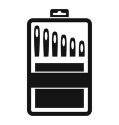 Set of needles icon simple style vector