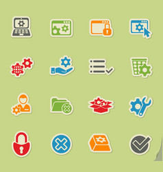Settings icon set vector