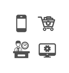 Smartphone presentation time and remove purchase vector