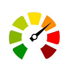speedometer tachometer in flat color on a white vector image