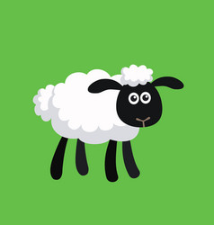 Standing cartoon sheep vector