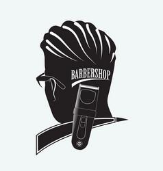 Stylish barber shop vector