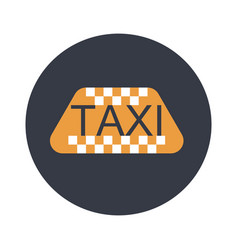 taxi flat icon vector image