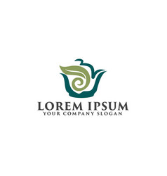 tea green logo design concept template vector image