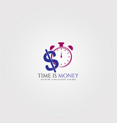 time is money logo template logo for business vector image