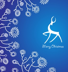 traditional christmas card vector image