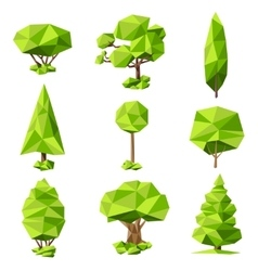 Trees abstract pictograms set vector