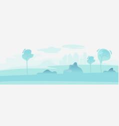 urban cityscape park landscape background town vector image