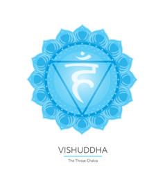 Vishuddha - chakra icon vector