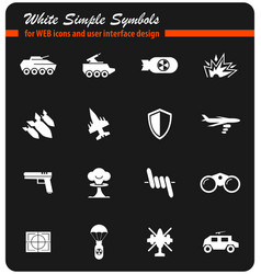 War symbols icon set vector