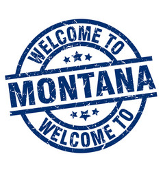 Welcome to montana blue stamp vector