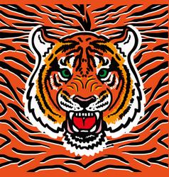Wild tiger print vector