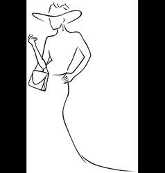 black lines woman vector image