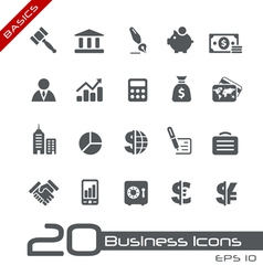 Business Finance Basics Series vector image vector image