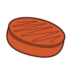 Chocolate roll cake vector