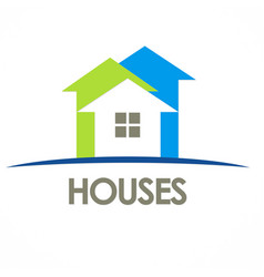 houses arrow logo vector image vector image