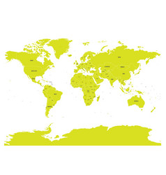political map of world with in green eps10 vector image vector image