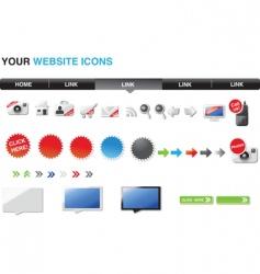 your website vector image vector image
