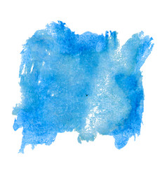 blot template blue watercolor vector image