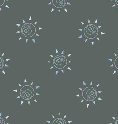 Cartoon sun seamless pattern circle symbol vector image vector image