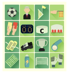 flat icons soccer vector image vector image