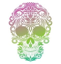 Floral Ornament Human Skull vector image vector image
