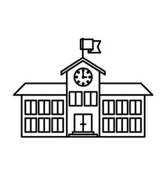 Sketch silhouette image high school structure with vector