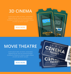 webpage for buying cinema tickets vector image vector image