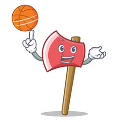 with basketball axe character cartoon style vector image