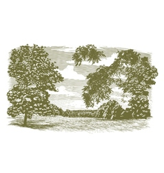 Woodcut Missouri Landscape vector image