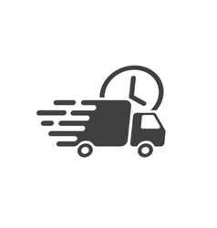 Delivery truck icon fast shipping cargo vector image vector image