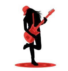 girl with a guitar vector image vector image