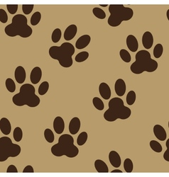 Animal Paw Seamless Pattern Background vector image vector image