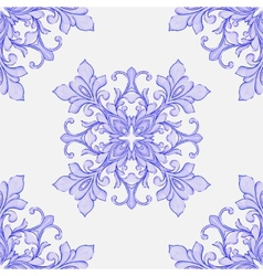 Barocco watercolor seamless lace ornament vector image