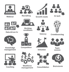 Business management icons Pack 30 vector image vector image