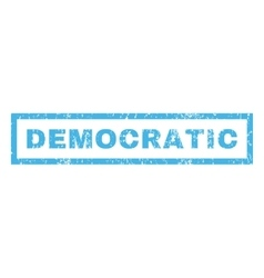 Democratic Rubber Stamp vector image