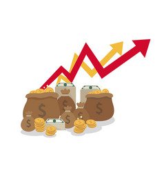 goal achievement can bring you a lot of money vector image vector image