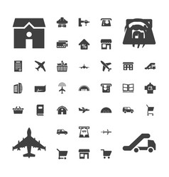 37 commercial icons vector