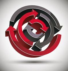 3d loop arrows vector