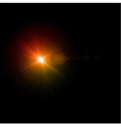 Abstract light flare effect vector