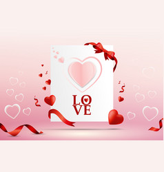 abstract valentine day love card template design vector image