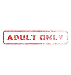 Adult only rubber stamp vector