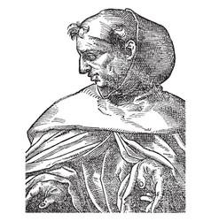 Albertus magnus vintage vector