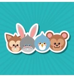 Animal cartoon design editable vector